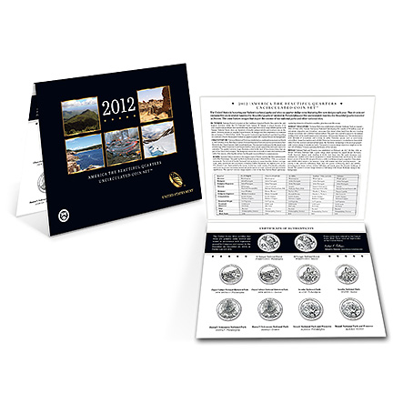 2012 America the Beautiful Quarters Uncirculated Coin Set